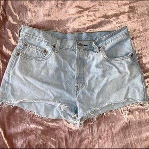 LEVI'S 501 High Rise Short Lightwash